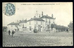 Cpa 78 Poissy  Place De La Mairie Et Boulevard De La Gare           -- 9 -- - Poissy