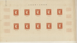 FRANCE - Bloc CITEX_ 1849/1949 (10 Timbres )-  Coin Daté_  ( Neuf ) - Mint/Hinged