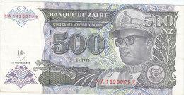 500 NOUVEAUX ZAIRES 15/02/1994  XAQ1420072K - Zaïre
