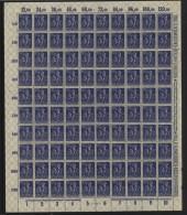 D.R.Bogen,Nr.188,Bogen Gefaltet,OR Mit Schwarzen Falz (M2) - Deutschland