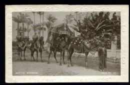Cpa Carte Photo Egypte Le Caire Mariage Caravane Avec Chameaux Native Wedding 1930  --1-- - Unclassified