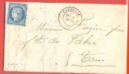 Tarn Et Garonne - Caussade Pour Vabre (Tarn) - GC + CàD Type 17 - 1849-1876: Classic Period