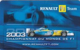 RENAULT . F1 . TEAM . - Prepaid-Telefonkarten: Andere