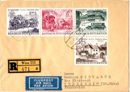 TEL-L3 - AUTRICHE Belle Lettre Recommandée Par Avion Pour Turckheim Avec Série U.P.U. 1964 Cachet D´arrivée Au Verso - 1945-.... 2. Republik