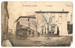 12jf CPA 11 La REDORTE Marchand Ambulant Sur La Placette Rare Mais Manque Angle Droit Bas - Unclassified