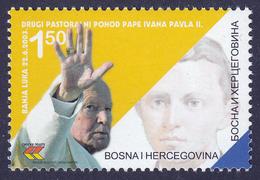 Bosnia Serbia 2003 Pope John Paul II, Joint Issue, Religion, Christianity, MNH - Emissioni Congiunte