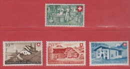 1946 ** (sans Charn., MNH, Postfrish)   Yv. 428/31  Mi. 471/4  Zum. 30/3 - Pro Patria