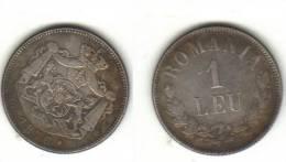 Romania 1 Leu 1876 FAKE Coin - Roumanie
