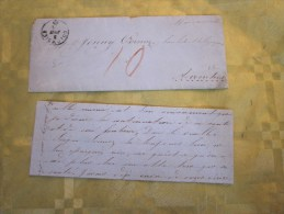 3 Juin 1861 Lettre (mignonnette) + Courrier De Grand Verger Suisse Helvetia -- Cachet à Date Au Verso  Payerne - 1854-1862 Helvetia (Non-dentelés)