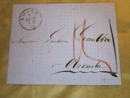 9 Déc 1861 Lettre (mignonnette)+Courrier De LOCLE  Suisse Helvetia-Pr Lamineur à Avenche (Taxe ) - 1854-1862 Helvetia (Non-dentelés)