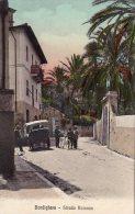 [DC6622] BORDIGHERA (IMPERIA) - STRADA ROMANA - Old Postcard - Imperia