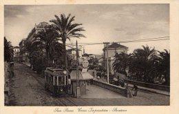 [DC6623] SAN REMO (IMPERIA) - CORSO IMPERATRICE - STAZIONE - Old Postcard - Imperia
