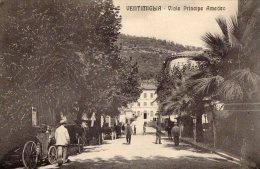 [DC6624] VENTIMIGLIA (IMPERIA) - VIALE PRINCIPE AMEDEO - Old Postcard - Imperia
