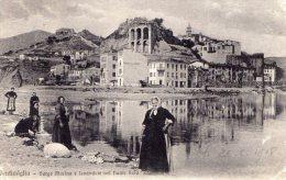 [DC6625] VENTIMIGLIA (IMPERIA) - BORGO MARINA E LAVANDAIENEL FIUME ROIA - Old Postcard - Imperia