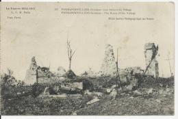 Vermandovillers - Ruines Du Village : église - Cliché Photo Des Armées - Carte Datée Du 24 Février 1917 - France