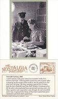 Postcard RAF Pilot And Woman Worker Aircraft Factory 1942 WW2 Nostalgia Repro - War 1939-45
