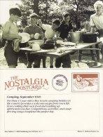 Postcard Boy Scouts Camp 1949 Washing Up Camping Nostalgia Repro - Scouting