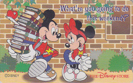 Télécarte Japon  / 110-180818 - DISNEY STORE - MICKEY & Livres MINNIE & Pomme - Japan Phonecard Telefonkarte - Disney