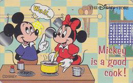 Télécarte Japon  / 110-181556 - DISNEY STORE - MICKEY & MINNIE Cuisine Cooking - Japan Phonecard Telefonkarte - Disney
