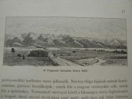 Hungary-Romania -Erdély - Siebenbürgen - Fogarasi Havasok -Fagaras-   Print  Ca 1895  1OM20.11 - Estampes & Gravures