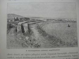 Hungary-Romania -Erdély - Sarmisegetusa  -Dacia -archeology Print Ca 1895  1OM20.29 - Stiche & Gravuren