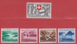 1952 ** (sans Charn., MNH, Postfrish)   Yv. 521/5  Mi. 570/4  Zum. 56/60 - Pro Patria