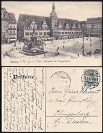 Leipzig Marktplatz Mit Siegesdenkmal Um 1906 Gelaufen - Leipzig
