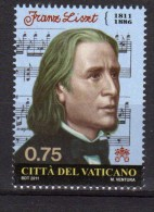 PIA - VAT : 2011 : 200° Della Nascita Di Franz Liszt E 100° Della Morte Di Gustav Mahler  - (SAS  1575-76) - Vaticano