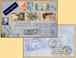 Lettre AIR FRANCE - Réouverture Ligne FRANCE-INDOCHINE - 11/6/1946 - Aviation AIR - ORIENT - Marcophilie (Lettres)