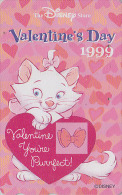 Télécarte Japon / 110-204858 - DISNEY STORE - CHAT / ST-VALENTIN - VALENTINE 1999 - Japan Phonecard Telefonkarte - Disney