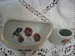 1950´s ROSES By ARTIS Art Pottery Dish, Israel + Bonus - Ceramics & Pottery
