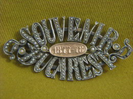 Independence Bucharest 1877 Gold & Silver Pearls Brooch - Altre Collezioni