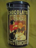 Vintage Chocolats Cie. Francaise Tin Box 7.5\ - Etains