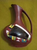 Vintage KERAMOS Pitcher Art Pottery Israel - Cerámica Y Alfarerías