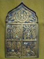 XIXthc Enamel Gilt Brass Russian Icon - Religion &  Esoterik