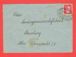 Cachet Ferroviaire LUTZELBURG DRULINGEN Zug 0973 - 15.6.44 A - Marcophilie (Lettres)
