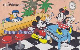 Télécarte Japon DISNEY STORE / 110-180817 - MICKEY MINNIE DONALD / PIANO BAR - Japan Phonecard Telefonkarte - Disney
