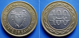 BAHRAIN 100 Fils 1992 *1412* BIMETALIC - COAT OF ARMS - Bahreïn
