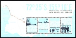 A.A.T. AUSTRALIAN ANTARCTIC TERRITORY 2009 South Magnetic Pole, M/S [MNH] - Unused Stamps