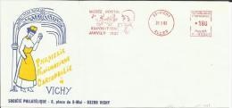 Lettre  EMA Havas P Musée Postal Exposition Janvier 1983 Santé Medecine Theme 03 Vichy 19/03 - Marcophilie (Lettres)