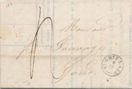 952/21 - Lettre Précurseur Type 18 ST GHISLAIN 1841 Vers GAND - Port 4 Décimes - 1830-1849 (Belgique Indépendante)