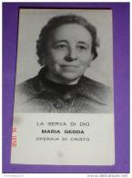 Reliquia MARIA GEDDA Serva Di Dio MODANE,Francia.Torino N.S.Suffragio.Milano Basilica S.Cuore. Società Operaia Femminile - Santini
