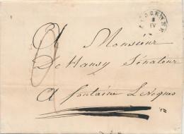 956/21 - Lettre Précurseur Type 18 FLORENNE 1842 Vers FONTAINE L' EVEQUE - Signée Prévot - Port  2 Décimes - 1830-1849 (Belgique Indépendante)