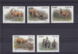 BUZIN - ZAÏRE 1452/56** Parc National De La Garamba - Superbes - 1985-.. Vögel (Buzin)