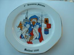 ASSIETTE TIR A L�ARC  - 8 �me RENCONTRES FEDERALES BAILLEUL 1996