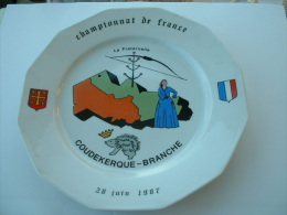 ASSIETTE TIR A L�ARC  - CHAMPIONNAT DE FRANCE COUDEKERQUE-BRANCHE 28 JUIN 1987