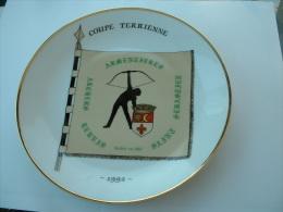 ASSIETTE TIR A L�ARC  - COUPE TERRIENNE ARMENTIERES 1992