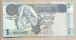 Libia - Banconota Circolata Da 1 Dinaro - Libia