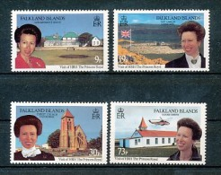 FALKLANDINSELN Mi.Nr. 664-667 Besuch Von Prinzessin Anne - MNH - Falkland Islands
