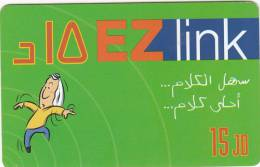 JORDAN - Ez Link prepaid card 15 JD, used